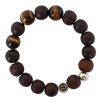 WOOD BRACELET With Healing Crystals - zen jewelz