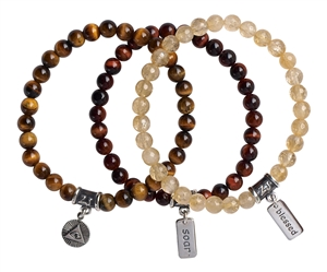 ATTRACT ABUNDANCE BUNDLE - Bronzite, Jade, Rutilated Quartz - zen jewelz