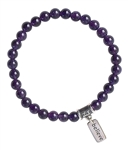 Amethyst Bracelet YOUR SOUL IS YOUR GUIDE - zen jewelz