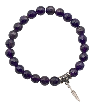 FIND YOUR DIRECTION - Amethyst Healing Crystal Stretch Bracelet - zen jewelz