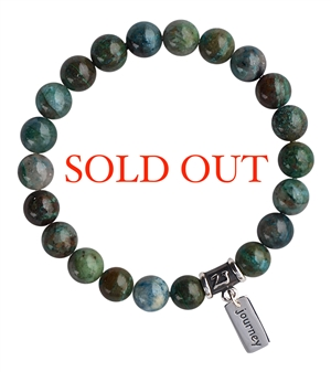 Chrysocolla Bracelet BE BRAVE - zen jewelz