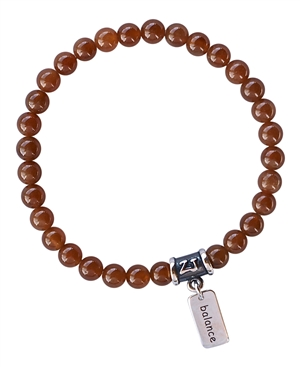 Hessonite Garnet Bracelet HIGHEST GOOD - zen jewelz