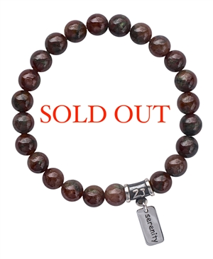 Hessonite Garnet Healing Crystal Bracelet - zen jewelz