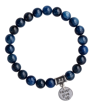 Kyanite Bracelet NEVER GIVE UP - zen jewelz