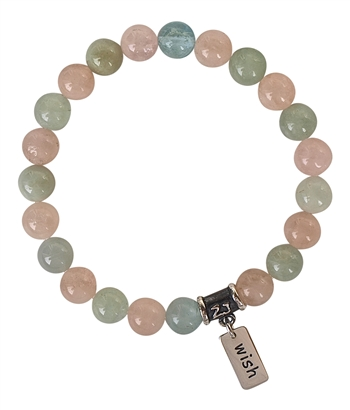 WISH - Morganite Luxury Healing Bracelet - zen jewelz