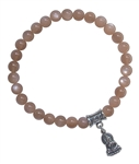 Peach Moonstone Bracelet EMOTIONAL HEALING - zen jewelz