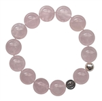 INFINITE PEACE - Rose Quartz Healing Crystal Stretch Bracelet - zen jewelz