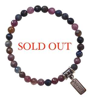 Ruby and Sapphire Healing Crystal Bracelet - zen jewelz