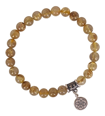 Rutilated Quartz Bracelet SACRED HEALING | zen jewelz
