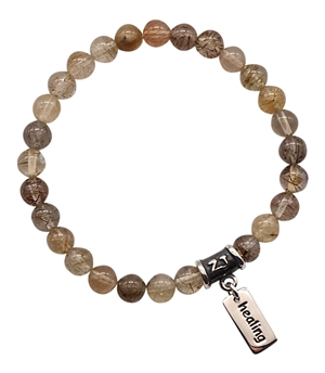 Rutilated Quartz Bracelet EBB & FLOW - zen jewelz