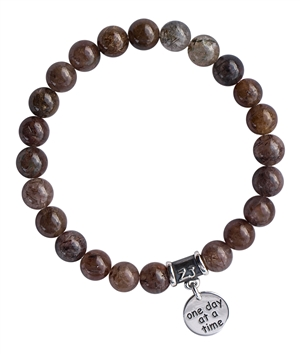 Bronze Rutilated Quartz Bracelet MUSINGS - zen jewelz