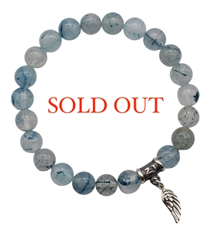 Blue Rutilated Quartz Bracelet BRING BLESSINGS - zen jewelz