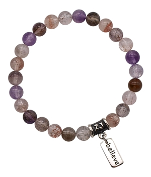 SACRED 7 - Super Seven Healing Crystal Stretch Bracelet - zen jewelz