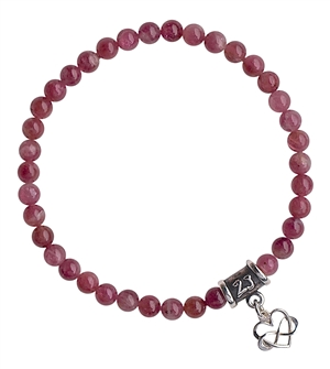 Pink Tourmaline Bracelet OPEN MY HEART - zen jewelz