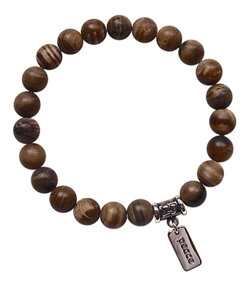zen jewelz - DIVINE TIMING - Wood Opalite Healing Crystal Bracelet