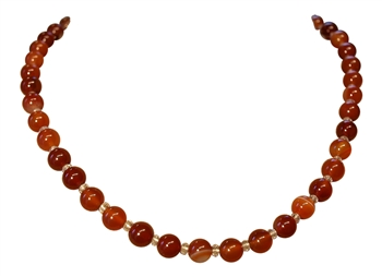 LIVE WITH PASSION Carnelian Necklace - zen jewelz
