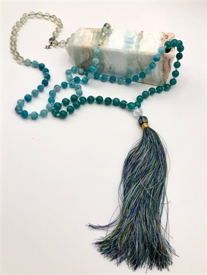 Beaded Mala Necklace - zen jewelz