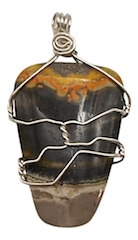 BUMBLE BEE JASPER Crystal Pendant - zen jewelz