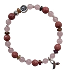 BREAST CANCER BRACELET AND SUPPORT- zen jewelz