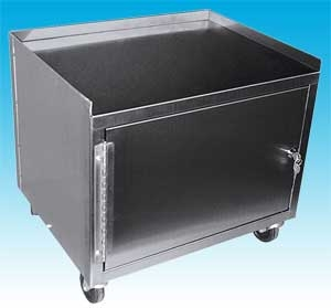 2 Shelf Stainless Steel Cabinet Cart