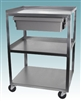 3 Shelf Stainless Steel Cart with Economy Drawer