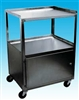 3 Shelf Stainless Steel Cabinet Cart