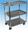 3 Shelf Utility Cart With Push Handle