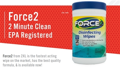 FORCE2 DISINFECTING WIPES