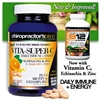 Vita-Super-C Orange Burst Chewables with Vitamin C, B12, Echinacea and Zinc