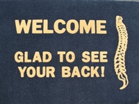 Chiropractic Glad To See Your Back Doormat