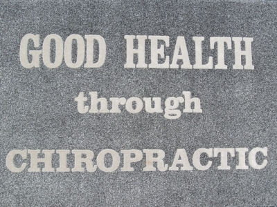 Good Health Through Chiropractic Doormat