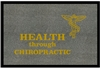 Health Through Chiropractic with Emblem Doormat
