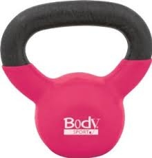 BodySport 10 Lb Kettlebell, Latex-Free, Hot Pink