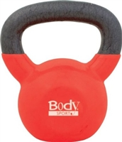 BodySport 25lb Kettlebell, Latex-Free, Red