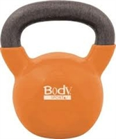 BodySport 35lb Kettlebell, Latex-Free, Orange