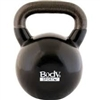 BodySport 50lb Kettlebell, Latex-Free, Black