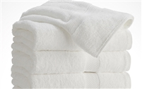 "White Cotton Machine Washable Commercial Martex Towels 20""x40"",  Set of 12"