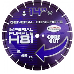 "15379 14"" x .125 x UNV Imperial Purple High Speed Diamond Blades"