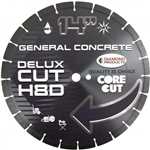 "50537 14"" X .125 X 1"" Delux-Cut High Speed Diamond Blade H10D Asphalt, Green Concrete, Brick/Block"