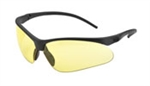SG-55A Flex-Pro, Amber HC/PC Lens, Black Frame, Core Flex Adjustable Temples