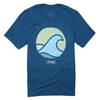Axis Wave Tee - Deep Teal