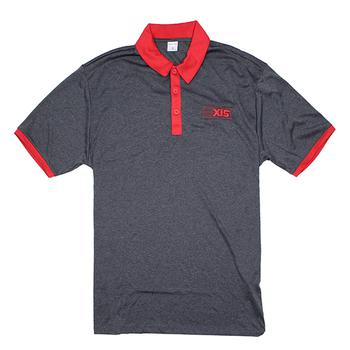Axis Contrast Polo - Graphite / Red
