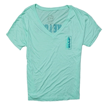 Axis Ladies Slouchy V-Neck Tee - Mint