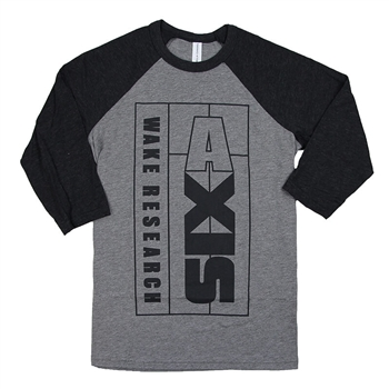 Axis Youth Vertical Baseball Tee - Grey / Black