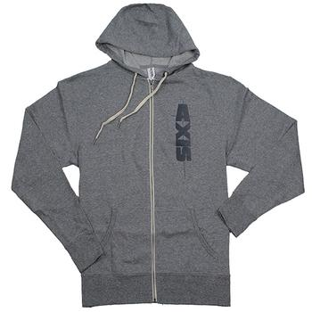 Axis Vertical Full-Zip Hoodie - Salt & Pepper Grey