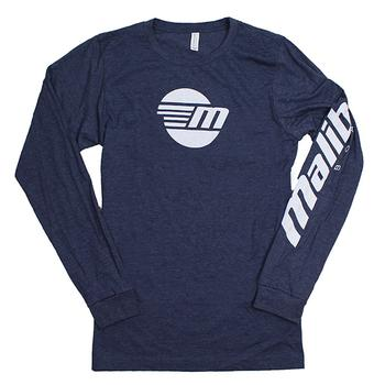L/S Centered Tee - Heather Navy