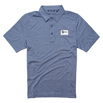 Forge Heather Polo - Indigo