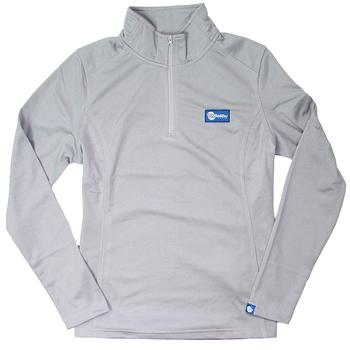Ladies North Face 1/4 Zip Fleece Pullover - Light Grey