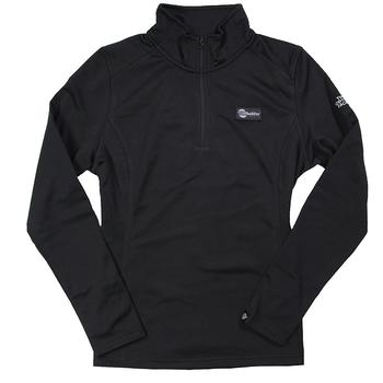 Ladies North Face 1/4 Zip Fleece Pullover - Black