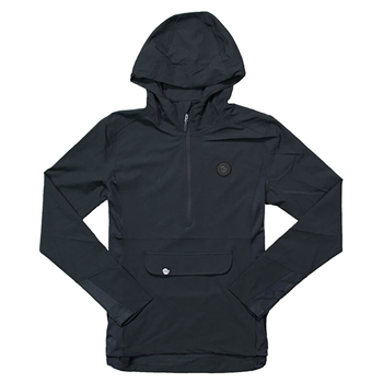 Women's 1/2 Zip Hooded Pullover - Black